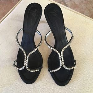 Giuseppe Zanotti Rhinestone Slide Sandals